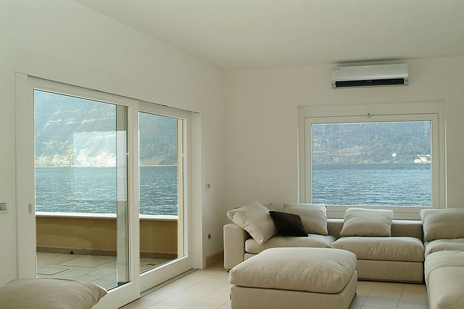 SALE MARASINO (BS) – PVC doors and windows  installation in a lake side house