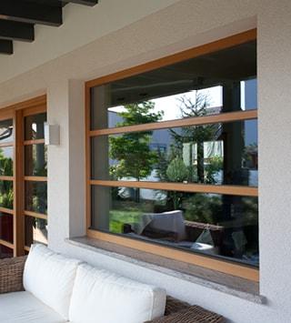 pvc wood windows